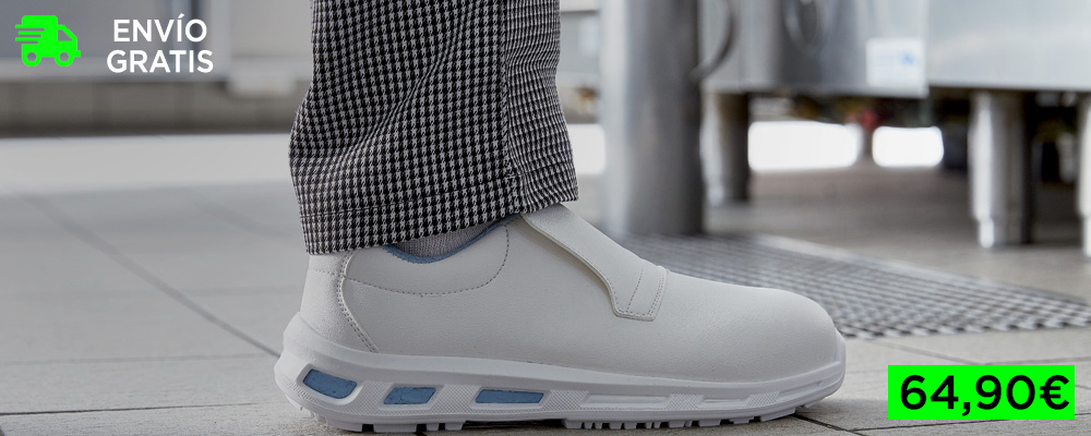 Zapatos de seguridad cómodos blancos
