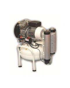 Compresor de aire médico Silencioso 25 litros Abac CLR 15/25 T con secador