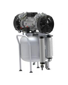 Compresor de aire médico Silencioso 50 litros ABAC CLR 20/50 con secador