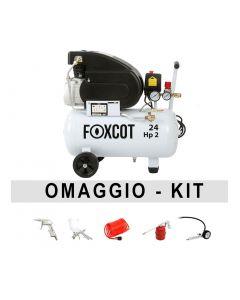 Compresor de aire de 24 litros Foxcot FL24 Con kit complementario