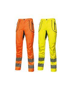 Pantalones de trabajo de alta visibilidad U-Power Ren en softshell
