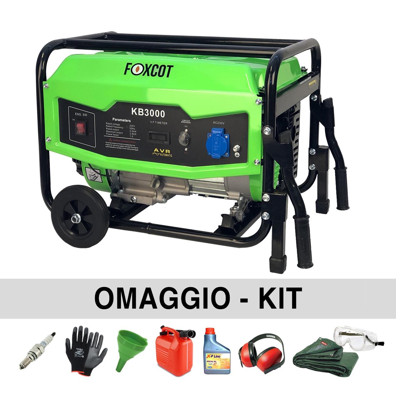 Generador de energía 2.8 Kw Foxcot KB3000