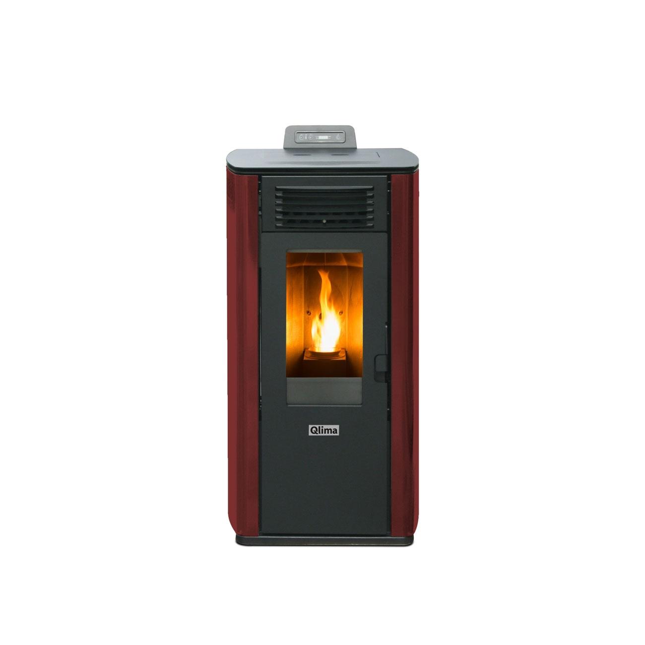 Estufa de pellets Qlima Fiorina 74 S-LINE Red Slim 8.24 kW - Productos Reaconditionados 2