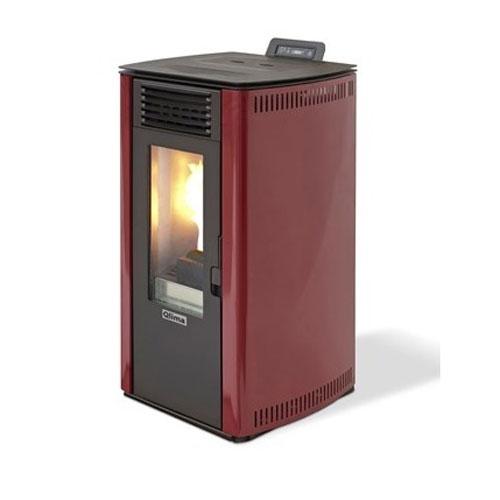 Estufa pellets Qlima Fiorina 90 S-LINE Red 10.1 kW - Productos Reacondicionado 2